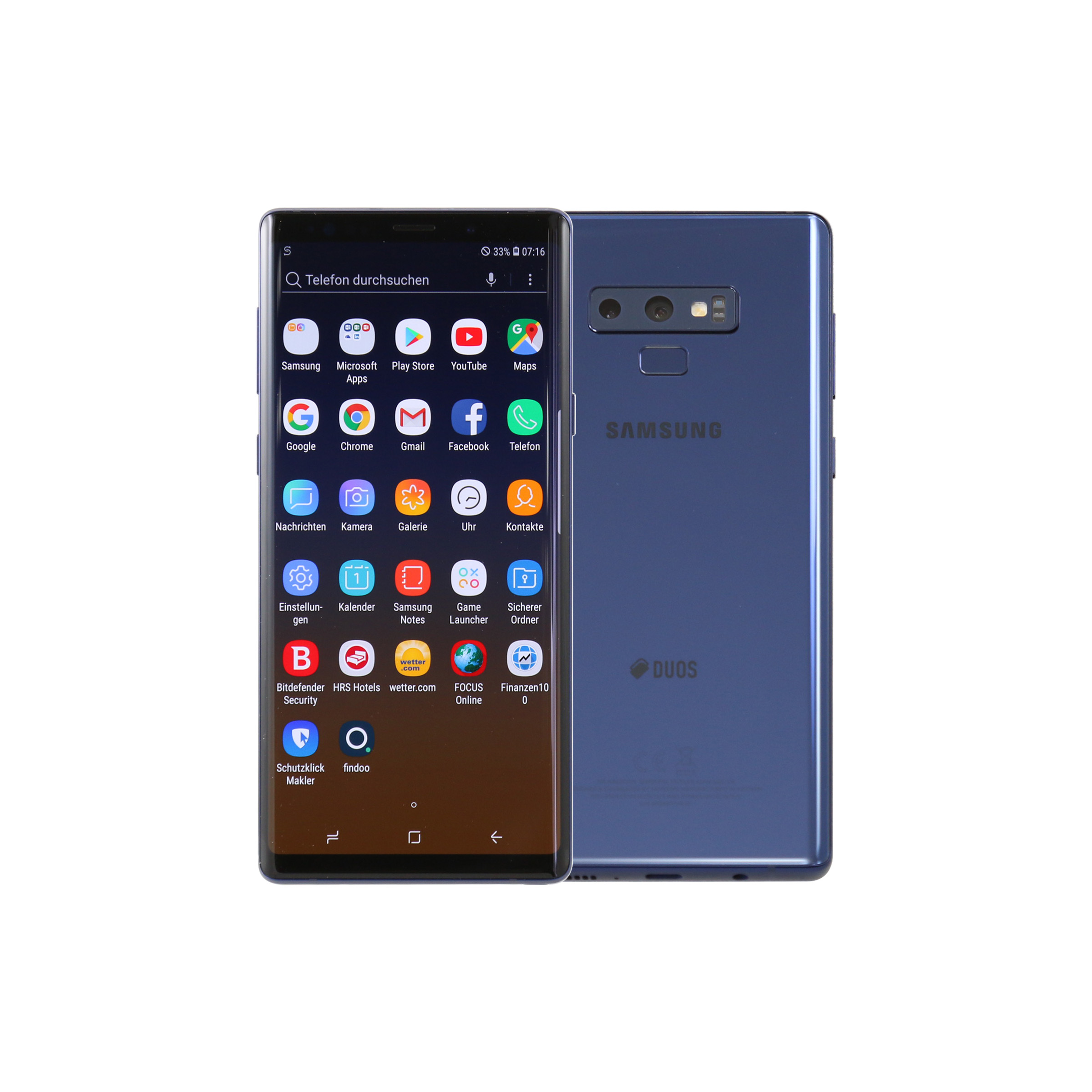 samsung galaxy note 9 n960f 128gb dual sim blau smartphone. Black Bedroom Furniture Sets. Home Design Ideas